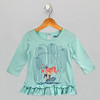 Girls Princess Green Top